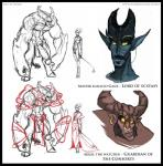 """akkal atryl blue_scales clothed clothing demon digital_drawing_(artwork) digital_media_(artwork) duo ganz hi_res horn humanoid male nude penis plain_background red_scales size_difference sketch white_background  Rating: Explicit Score: 4 User: Jessica_Anner Date: October 25, 2014"""""""