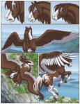 2014 clothing cloud equine feral hike hooves horse male mammal mount_helicon mountain outside pegasus sabretoothed_ermine sky spring transformation wings   Rating: Safe  Score: 7  User: PheagleAdler  Date: September 21, 2014