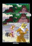 2017 after_sex anthro big_breasts breasts comic crossover dialogue digimon dinosaur english_text female feral galdon jenny_(bucky_o'hare) male renamon scalie sleeping text yawgRating: SafeScore: 10User: RobinebraDate: March 21, 2017