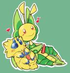 4_eyes <3 anthro anus arthropod balls blush duo flora_fauna glans green_background happy humanoid_penis insect interspecies joltik leavanny malcolm_(artist) male male/male mantis nintendo note penis plant pokémon simple_background size_difference smile tapering_penis tick video_gamesRating: ExplicitScore: 5User: KalamataDate: January 27, 2017