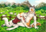 2011 anthro canine caprine corset dog duo fellatio female knot male male/female mammal nelena nude oral outside penis sex sheep sky   Rating: Explicit  Score: 7  User: TonyLemur  Date: September 12, 2011