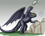 2010 ambiguous_gender audie-gryph dragon feral grass how_to_train_your_dragon night_fury outside rubber_suit simple_background solo yellow_eyes   Rating: Safe  Score: 1  User: Lizardite  Date: January 01, 2015