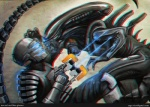 alien alien_(franchise) ambiguous_gender armor crossover dead_space eyeless fight helmet isaac_clarke male plasma_cutter science_fiction vitorzago weapon xenomorph   Rating: Safe  Score: 9  User: skykid  Date: March 12, 2011