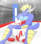 anthro blush duo fight hi_res male mammal mongoose mustelid nintendo otter pecs pokémon samurott sweat tsubasa1110 video_games wrestling zangoose  Rating: Safe Score: 2 User: slyroon Date: November 12, 2015