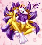 absurd_res anthro canine fox fur hi_res kemono korean kyubi_(yo-kai_watch) male mammal solo tailzkim video_games yellow_eyes yo-kai_watch