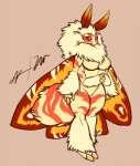 4_arms antennae anthro arthropod breasts claws cute female fluffy fur insect mane moth multi_limb multiple_arms neck_tuft nude red_eyes signature solo source_request standing stripes tan_background tuft unknown_artist unknown_artist_signature white_fur wings   Rating: Questionable  Score: 8  User: donteven  Date: April 12, 2015