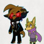 """animal_crossing anthro caprine cervine clothing death deer dress duo fanmade female magic_user male mammal nintendo rainbow sheep suit video_games vonderdevil witch  Rating: Safe Score: 1 User: Vonder Date: April 17, 2012"""""""