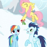 2013 absurd_res blue_fur blush cutie_mark equine eyes_closed female feral fluttershy_(mlp) friendship_is_magic fur gizemyorganci green_eyes group hair hi_res horse mammal mistletoe multicolored_hair my_little_pony outside pegasus pink_hair plant pony purple_eyes rainbow_dash_(mlp) rainbow_hair snow soarin_(mlp) wings wonderbolts_(mlp) yellow_fur   Rating: Safe  Score: 6  User: GizemYorganci  Date: May 21, 2013