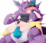 blue_eyes blush breasts clothing female gloves hair hat horn human interspecies knot leggings legwear male mammal nidoking nintendo open_mouth penetration penis pink_hair plain_background pokémon poképhilia pussy sex stickysheep teeth tongue vaginal vaginal_penetration vein veiny_penis video_games   Rating: Explicit  Score: 15  User: DeltaFlame  Date: April 16, 2015