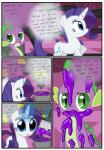 absurd_res blue_eyes bucket comic cub cutie_mark dialogue dragon duo english_text equine eyeshadow female feral friendship_is_magic fur goo green_eyes hair hi_res horn levitation magic makeup male mammal my_little_pony paintbrush purple_hair purple_scales pyruvate rarity_(mlp) scalie slit_pupils spike_(mlp) spines text unicorn white_fur writing young   Rating: Safe  Score: 6  User: Jatix  Date: May 15, 2014