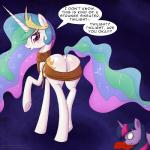 2017 abstract_background blood blush butt clothed clothing crown cutie_mark deusexequus dock duo english_text equine female feral friendship_is_magic hair horn long_hair looking_at_viewer looking_back mammal multicolored_hair my_little_pony nosebleed princess_celestia_(mlp) purple_eyes raised_leg rear_view solo_focus text tongue tongue_out twilight_sparkle_(mlp) unconscious underhoof unicorn virgin_killer_sweater wingsRating: QuestionableScore: 9User: ConsciousDonkeyDate: February 23, 2017