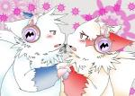 blush claws duo embrace fur fur_markings hand_holding headphones kemono nintendo open_mouth pokémon video_games white_fur yami zangoose   Rating: Questionable  Score: 1  User: terminal11  Date: April 23, 2014