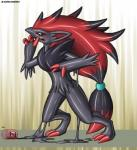 ambiguous_gender anthro audie-gryph blue_eyes canine claws goo mammal nintendo pokémon rubber_suit solo video_games zoroark  Rating: Questionable Score: 2 User: SirDoc-Sama Date: July 18, 2015