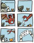 ambiguous_gender blue_eyes cat comic dragon english_text feline felyne feral flying_wyvern group holding human humor hunter male mammal monster_hunter plain_background rathalos reptile scalie text unknown_artist video_games wyvern   Rating: Safe  Score: 11  User: e17en  Date: January 31, 2015
