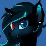 bat_pony blue_eyes blush equine fan_character female hair headshot_portrait heterochromia horn hybrid looking_at_viewer mammal my_little_pony portrait red_eyes rhk solo unicornRating: SafeScore: 27User: Kristal_CandeoDate: September 23, 2015
