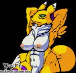 abs alpha_channel anthro armpits arms_above_head black_sclera breasts canine chest_fur dante-feline dickgirl digimon flaccid fox fur green_eyes intersex low_res mammal multicolored_fur muscular muscular_intersex neck_tuft nude pecs penis pose renamon simple_background solo transparent_background tuft two_tone_fur white_fur yellow_fur  Rating: Explicit Score: 5 User: Dante-Lion Date: January 06, 2016