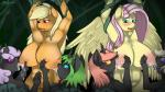 2015 anthro applejack_(mlp) areola big_breasts blush breastfeeding breasts changeling earth_pony equine erect_nipples female fluttershy_(mlp) friendship_is_magic group horse huge_breasts lactating malamol mammal milk my_little_pony nipples nude pegasus pony pussy wings  Rating: Explicit Score: 19 User: Robinebra Date: July 16, 2015