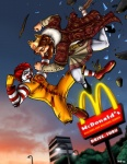 2009 <3 amazing beard burger_king clothed clothing clown coat competition crown curly_hair duo facial_hair fight hair human king logo male mammal mascot mcdonalds not_furry restaurant ronald_mcdonald royalty sunrise the_burger_king tpjr what  Rating: Safe Score: 22 User: Fox2K9 Date: May 20, 2009