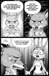 2017 angry anthro borba canine clothed clothing comic disney duo english_text female fox fur hi_res judy_hopps lagomorph male mammal nick_wilde rabbit screentones shocked text zootopia
