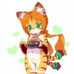 clothing cotora cub cute feline female green_hair hair loli mammal open_mouth orange_hair panties pussy short_hair tiger underwear young   Rating: Explicit  Score: 1  User: KemonoLover96  Date: May 23, 2015