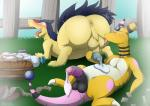 ampharos anus ass_up ball_lick balls barrel big_butt blush butt chikiota claws condom cum duo fan_character feral filled_condom fondling foreskin licking looking_pleasured lying male male/male nintendo on_back on_front oral penis perineum pokémon semi-anthro sex tongue tongue_out typhlosion video_gamesRating: ExplicitScore: 12User: BlazingflareDate: April 25, 2017