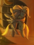 blonde_hair cutie_mark derpy_hooves_(mlp) duo equine eyes_closed face_to_face female feral flying friendship_is_magic fur grey_fur grin hair horn hug inside looking_at_viewer mammal multicolored_hair my_little_pony night pegasus purple_eyes raikoh-illust smile teeth trixie_(mlp) two_tone_hair unicorn window wings  Rating: Safe Score: 7 User: Deatron Date: June 25, 2013