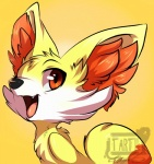 2013 ambiguous_gender canine cute fennekin feral hi_res mammal nintendo open_mouth pokémon pokémon_(species) solo tartii teeth tongue video_games