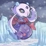 anthro anthrofied anus areola blue_eyes breasts erect_nipples female froslass ice navel nintendo nipples outside pokémon pokémorph pussy quagsireofvp video_games   Rating: Explicit  Score: 5  User: Robinebra  Date: April 01, 2013