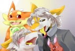 beastman clone clothing cute fan_character female girly hair invalid_color invalid_tag jacket johnsergal_(character) kemono leather male osukemo otokonoko sergal sibling silver twins   Rating: Safe  Score: 0  User: JohnSergal  Date: May 06, 2015