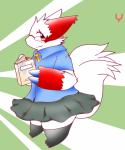 book claws eyeglasses fur_markings kemono looking_at_viewer nintendo pokémon skirt socks solo video_games yami zangoose   Rating: Safe  Score: 0  User: terminal11  Date: April 23, 2014