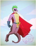 anthro balls cape clothing dragon erection friendship_is_magic male manly my_little_pony penis scalie solo spike_(mlp) superhero yomari  Rating: Explicit Score: 9 User: Pokelova Date: December 18, 2014