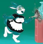anxiety-collar_(artist) clothing duster female huge_thighs kaa_eyes lagomorph legwear maid_uniform mammal mind_control overweight rabbit solo stockings uniformRating: SafeScore: 1User: supersaltysamDate: March 20, 2018