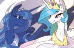 2015 crown duo equine famosity female feral friendship_is_magic horn jewelry mammal my_little_pony necklace princess_celestia_(mlp) princess_luna_(mlp) probablyfakeblonde sibling sisters winged_unicorn wings