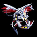 absurd_res claws dragon fusion hi_res jordanqv mega_evolution mega_rayquaza nintendo pokémon skarmory solo video_games wings
