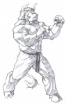 abs anthro beard belt biceps big_muscles bovine cattle clothed clothing echin facial_hair feline flexing fur hair half-dressed hooves horn hybrid lion male mammal martial_arts monochrome muscles pants pecs plain_background pose sketch solo standing toned topless uniform vein white_background   Rating: Safe  Score: 2  User: unforget  Date: January 15, 2013