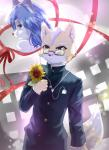2016 anthro black_nose blue_eyes blue_fur blue_hair brown_fur canine duo eyewear female flower fox fox_mccloud fur gem glasses green_eyes hair hair_ornament headphones hi_res jewelry krystal male mammal nintendo plant ribbons short_hair star_fox suit video_games white_fur けも_ちはる  Rating: Safe Score: 5 User: Cαnε751 Date: February 06, 2016
