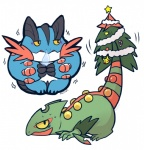 ambiguous_gender christmas christmas_tree duo holidays huiro mega_evolution mega_sceptile mega_swampert nintendo pokémon sceptile swampert tree video_games   Rating: Safe  Score: 4  User: slyroon  Date: June 10, 2014