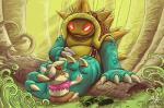 claws duo foot_fetish jammerhighwind league_of_legends male mammal rammus scalie smile teemo toes video_games yordle  Rating: Questionable Score: 3 User: notfornothin Date: February 04, 2016