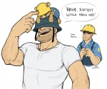 <3 blue_shirt clothing cute dialogue engineer_(team_fortress_2) english_text eyewear flying_sweatdrops goggles grin hard_hat hat helmet humor lintu male not_furry overalls plushie poking sad shirt soldier_(team_fortress_2) sweat sweatdrop team_fortress_2 teddy_bear teddy_roosebelt text video_games white_shirt  Rating: Safe Score: 50 User: Mario583 Date: March 13, 2012