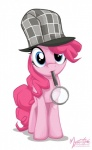 blue_eyes deerstalker_hat digital_media_(artwork) equine female feral friendship_is_magic hat horse looking_at_viewer magnifying_glass mammal my_little_pony mysticalpha pinkie_pie_(mlp) plain_background pony solo white_background  Rating: Safe Score: 16 User: 2DUK Date: April 07, 2012""
