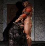 3d bandanna biceps big_muscles black_howler canine cgi digital_media_(artwork) duo erection eyes_closed fangs fellatio forced forced_oral head_grab human humanoid_penis interspecies male male/male mammal muscles nude open_mouth oral pecs penis sex sitting standing tattoo were werewolf  Rating: Explicit Score: 29 User: furmann Date: December 02, 2012