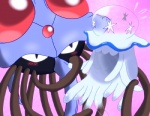 blush feral jellyfish marine nihilego nintendo pokémon simple_background tentacles tentacruel video_gamesRating: SafeScore: 6User: Rad_DudesmanDate: March 27, 2017