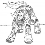 45silverwolfdemon ambiguous_gender armor black_and_white equine halo_(series) horse monochrome my_little_pony parody plain_background pony solo spartan veratin video_games white_background   Rating: Safe  Score: 0  User: Veratin  Date: June 27, 2011
