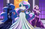 2015 anthro anthrofied cleavage clothed clothing cutie_mark dress equine female friendship_is_magic hair horn looking_at_viewer mammal multicolored_hair my_little_pony princess_cadance_(mlp) princess_celestia_(mlp) princess_luna_(mlp) toughset winged_unicorn wings  Rating: Questionable Score: 43 User: Robinebra Date: July 27, 2015