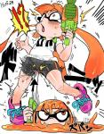 ?! blush breasts cephalopod clothed clothing cunt_punch duo female groin_attack inkling loli marine masked nintendo orange_eyes orgasm pain pussy_ejaculation pussy_juice shirt shorts splatoon squid super_soaker teardrop tears tetugakuzonbi twintails_(disambiguation) video_games young  Rating: Explicit Score: 4 User: Rodwood Date: August 21, 2015