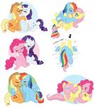 applejack_(mlp) blush cowboy cutie_mark earth_pony equine female female/female feral fluttershy_(mlp) friendship_is_magic horn horse kissing mammal mintypepper my_little_pony nibble pegasus pinkie_pie_(mlp) pony rainbow_dash_(mlp) rarity_(mlp) unicorn wings  Rating: Questionable Score: 11 User: darknessRising Date: November 26, 2013""