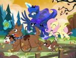 2016 blue_eyes blue_fur blue_hair canine collar crown cutie_mark dog equine feathered_wings feathers female fence feral fluttershy_(mlp) flying friendship_is_magic fur grass group hair horn leash leaves magic mammal my_little_pony nature orthros_(mlp) orthrus outside pegasus pink_hair pixelkitties princess_luna_(mlp) scarf smile spread_wings tree winged_unicorn wings winona_(mlp) yellow_feathers yellow_fur  Rating: Safe Score: 1 User: ConsciousDonkey Date: April 30, 2016