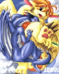 cloud cloudscape dragon duo edmol female feral flammie fur furred_dragon male mana_(series) outside scalie secret_of_mana size_difference sky video_games wings  Rating: Questionable Score: 3 User: fh3lc7kh Date: June 08, 2013
