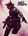 armor black_eyes black_hair canine fur hair male mammal ranged_weapon red_fur running sligarthetiger soldier solo weapon wolf   Rating: Safe  Score: 2  User: xXK1T5UN3Xx  Date: April 13, 2014
