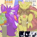 ! 2010 abra after_sex alcohol aliasing anus argon_vile balls bean_bag beer beverage bubble cum cum_drip cum_in_ass cum_inside detailed_background dialogue digital_media_(artwork) dripping drunk duo english_text erection fangs gengar grin holding_object humor laugh male nintendo open_mouth open_smile penis pokémon pokémon_(species) smile text video_games